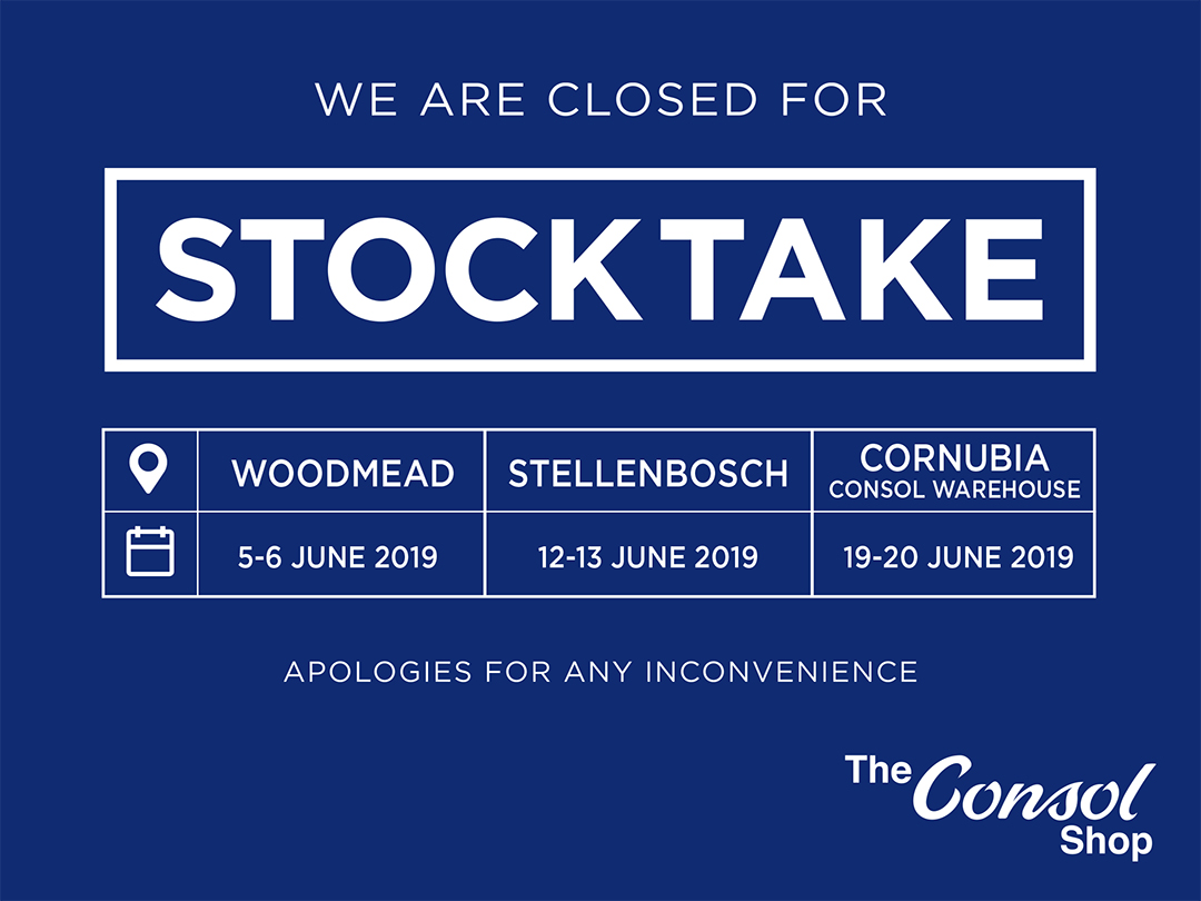 Closed for Stocktake
